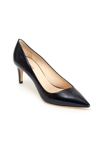 Giorgio Armani - Blue Saffiano Sport Patent Leather Pumps