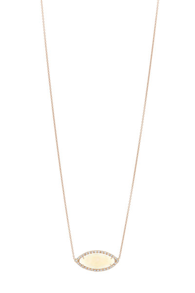 Kimberly McDonald - 18K Rose Gold Opal Pendant Necklace