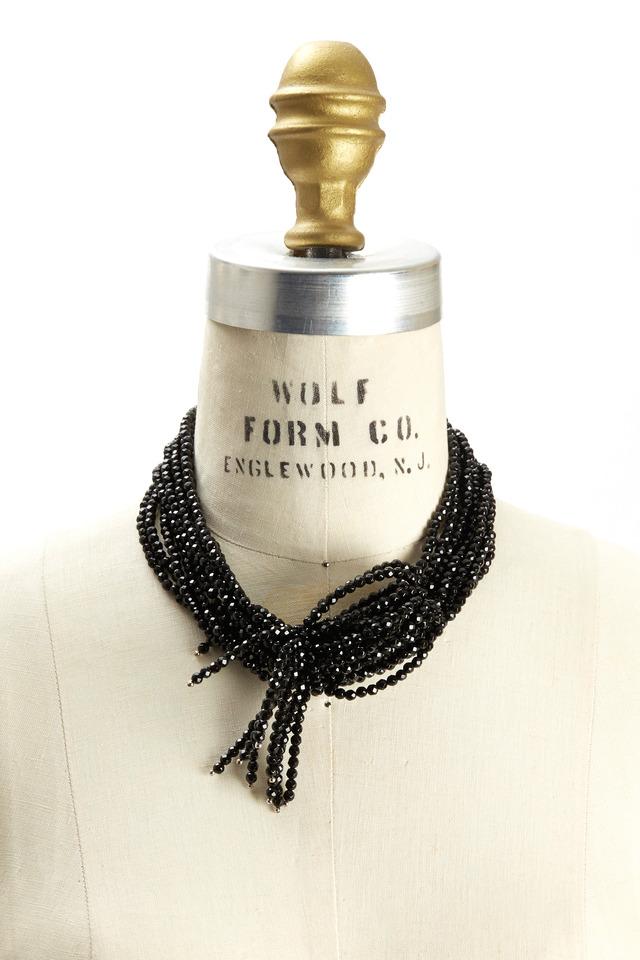 Black Agate Multi Strand Necklace