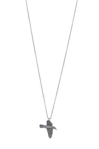 James Banks - Sterling Silver Bird Pendant Necklace