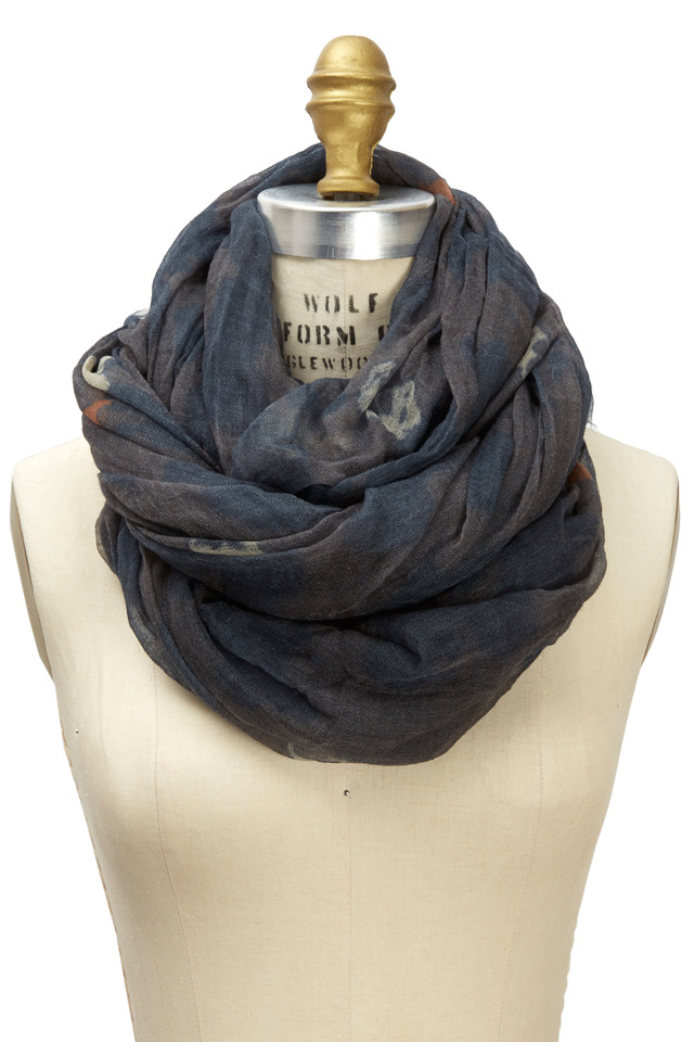 Camouflage Print Cashmere Scarf
