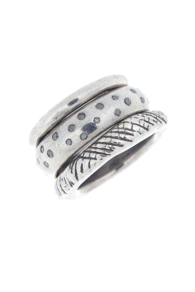 Tulah Jem - White Gold Black Diamond Trio Ring