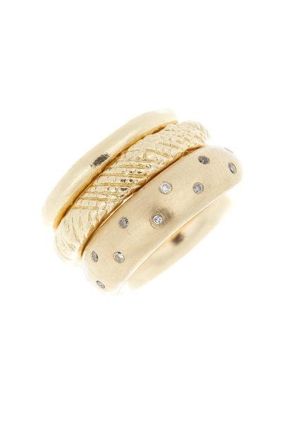 Tulah Jem - Yellow Gold Diamond Trio Ring