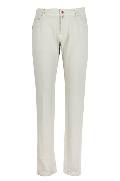 Kiton - Stone Brushed Twill Jeans