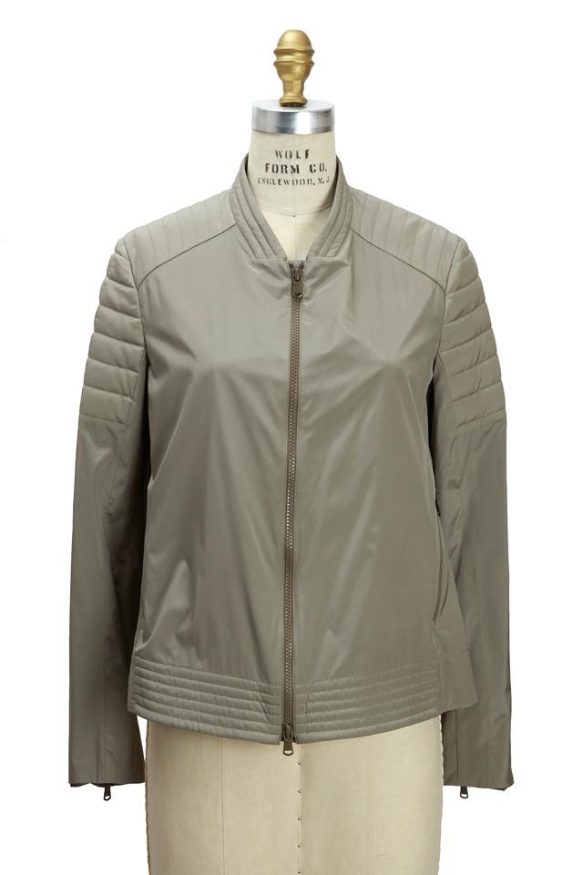 Military Silk Biker Coat