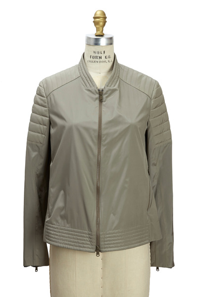 Brunello Cucinelli - Military Silk Biker Coat