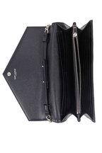 Saint Laurent - Monogram Black Matelassé Leather Chain Wallet