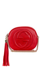 Gucci - Soho Red Grained Leather Small Round Bag