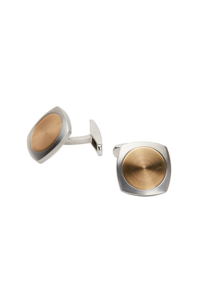 Kathleen Dughi - 18K Yellow Gold & Stainless Steel Cuff Links