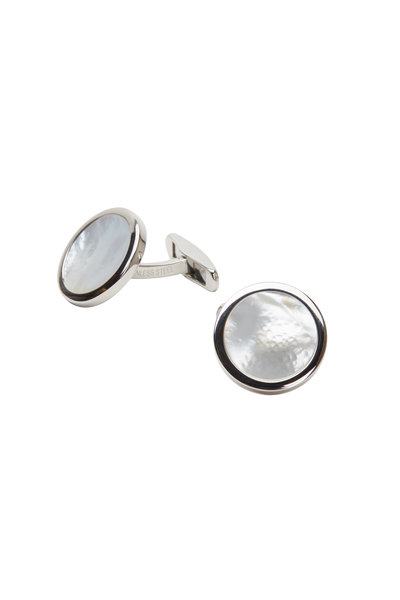Kathleen Dughi - Stainless Steel Mother Of Pearl Cuff Links