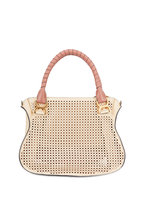 Chloé - Marcie Yellow Perforated Leather Shoulder Bag