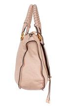 Chloé - Marcie Nude Textured Leather Large Shoulder Bag