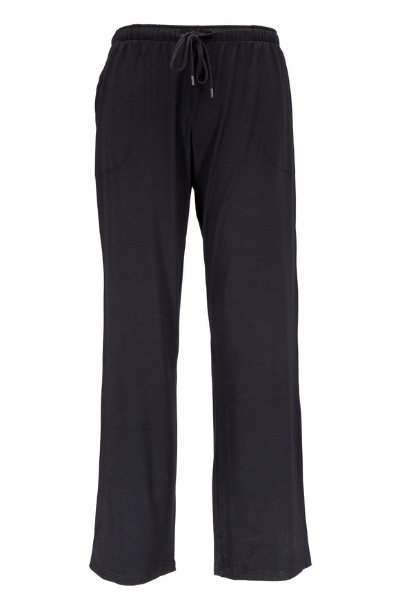 Derek Rose Black Stretch Jersey Lounge Pants