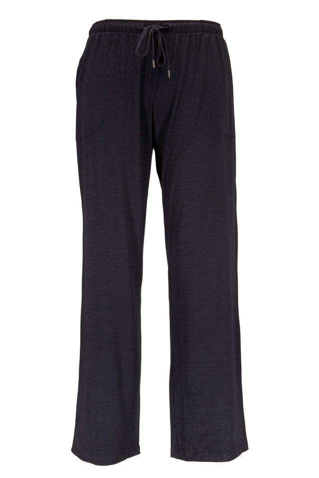 Black Stretch Jersey Lounge Pants