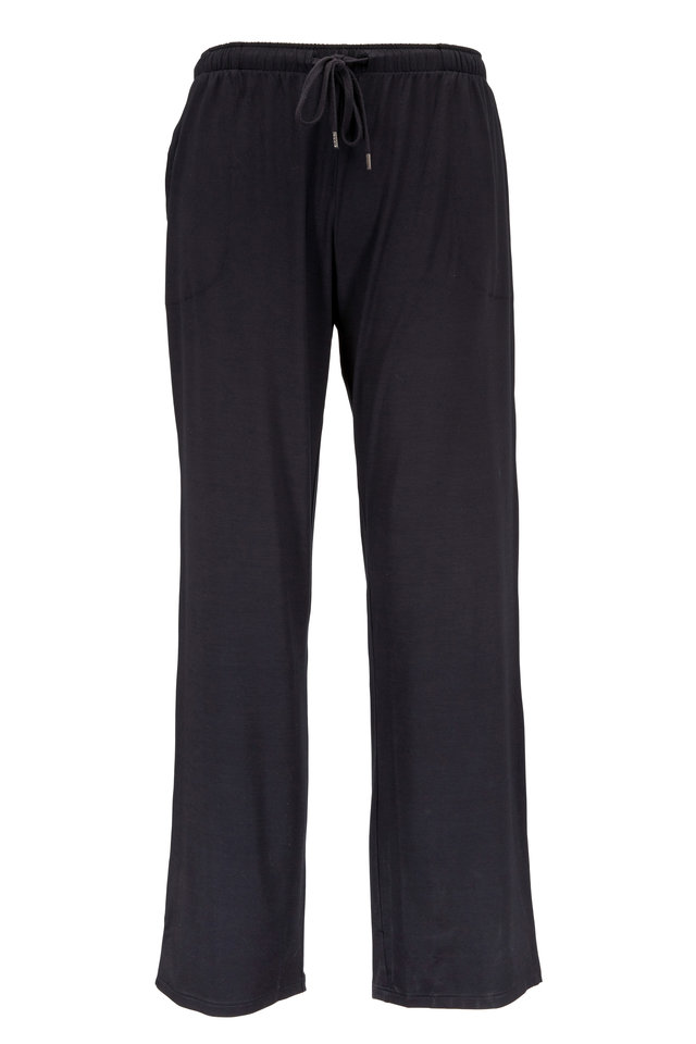 Black Stretch Jersey Lounge Pants