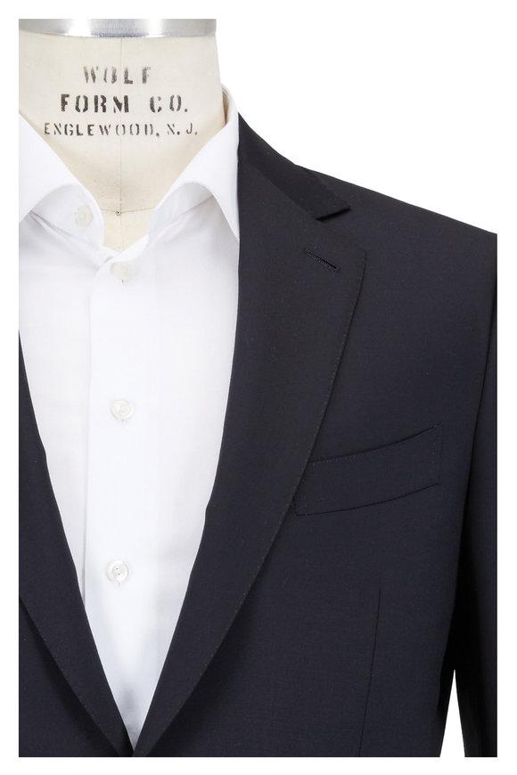 Ermenegildo Zegna Black High Performance Micronsphere Wool Suit