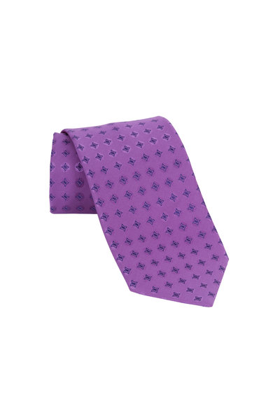 Charvet - Purple Star Silk Necktie