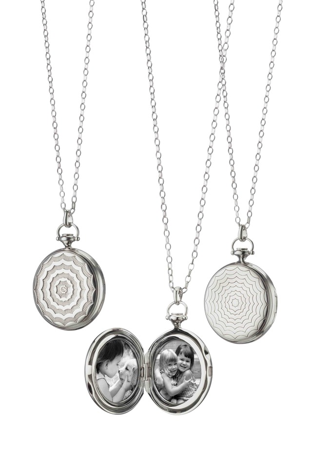 Sterling Silver Pocketwatch Locket Necklace