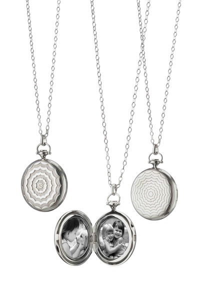 Monica Rich Kosann - Sterling Silver Pocketwatch Locket Necklace