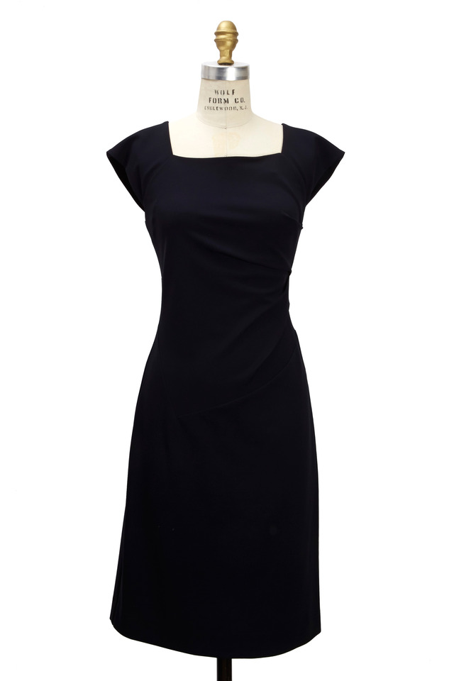 Navy Blue Jersey Dress
