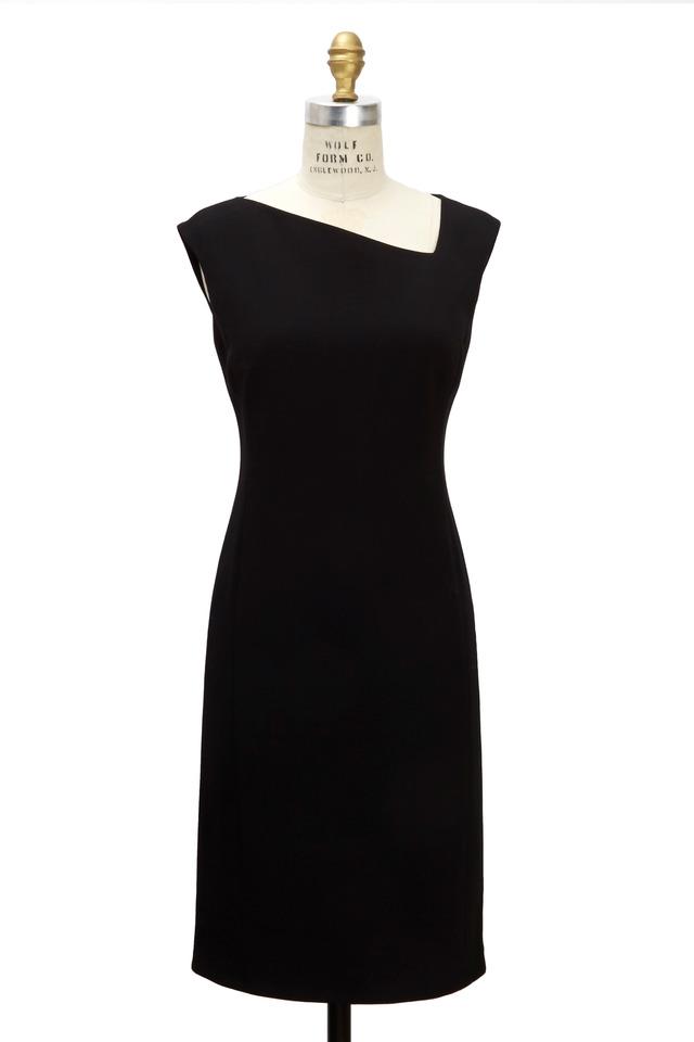 Black Wool Double Face Dress