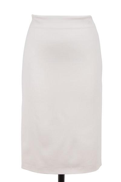 Brunello Cucinelli - Granite Stretch Wool Pencil Skirt