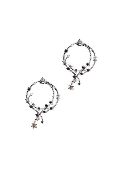 Bochic - Black & White Diamond Drop Earring