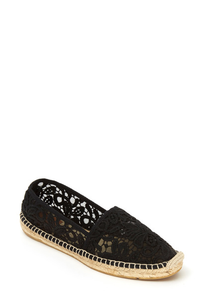 Tory Burch - Jackie Black Lace Flat Espadrille