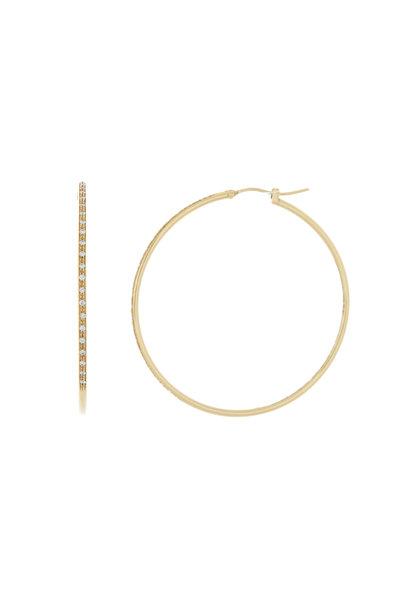 Kathleen Dughi - 18K Yellow Gold Diamond Hoops