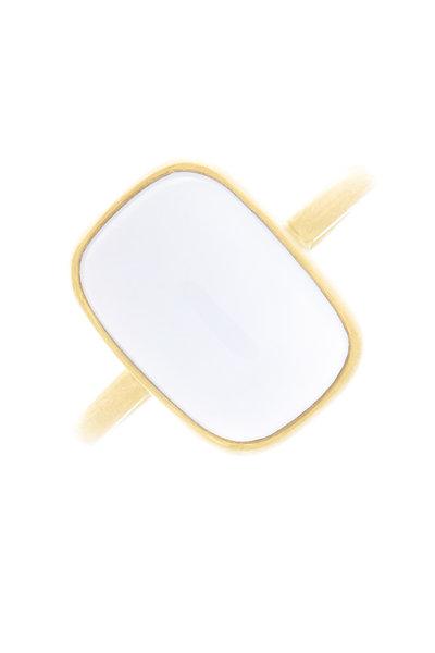 Caroline Ellen - Yellow Gold Chalcedony Ring