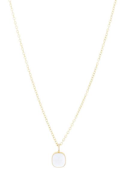 Caroline Ellen - Yellow Gold Chalcedony Necklace