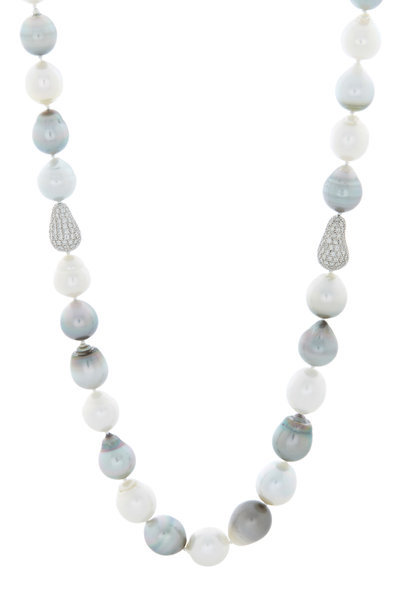 Kathleen Dughi - Pearl Pave & Grey Diamond Necklace