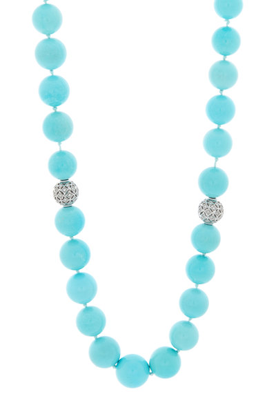 Kathleen Dughi - Turquoise Beach Strand Necklace