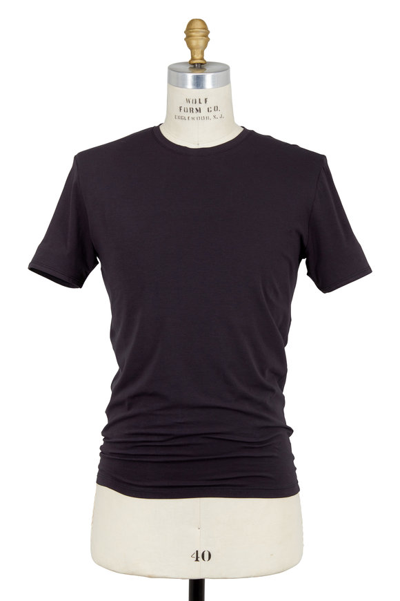 Tommy John Black Cool Cotton Crewneck T-Shirt