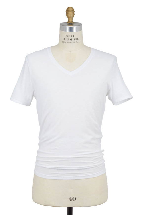Tommy John White Cool Cotton V-Neck T-Shirt