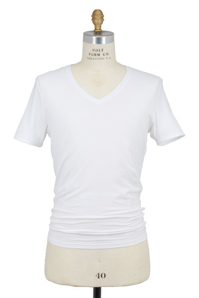 Tommy John - White Cool Cotton V-Neck T-Shirt