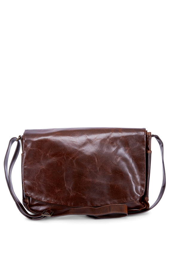 Moore & Giles Sackett Brompton Brown Leather Messenger Bag
