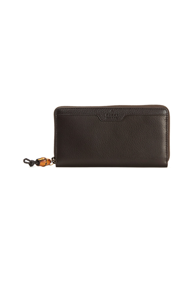 Cocoa Leather Zip Wallet