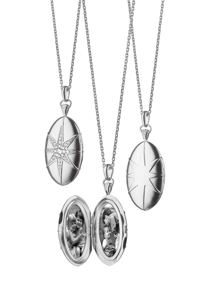 Monica Rich Kosann - Sterling Silver Star Locket Necklace