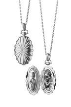 Monica Rich Kosann - Sterling Silver Sunburst Locket Necklace