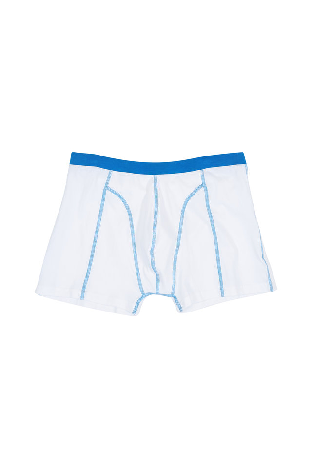The Johnson White & Blue Boxer Briefs