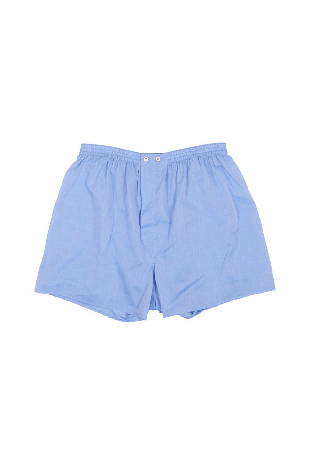 Solid Blue Boxer Shorts