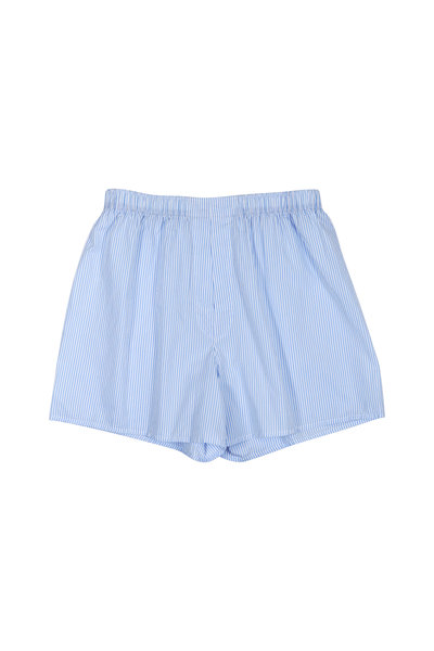 Charlie Dog Boxer Company - The Ben Blue & White Pinstriped Boxer Shorts
