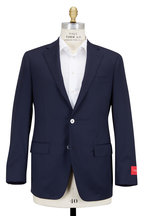 Samuelsohn - Navy Blue Worsted Wool Sportcoat
