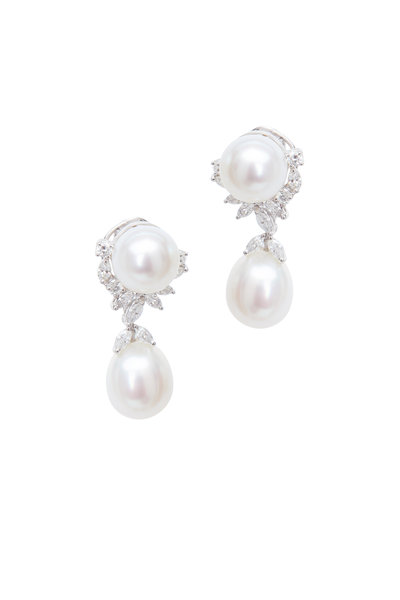 Assael - Sterling Silver Cultured Pearl Drop Earrings