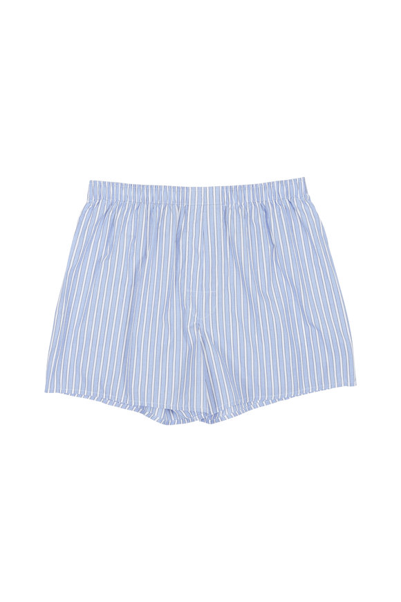 Charlie Dog Boxer Company The Clark Blue & White Striped Boxer Shorts