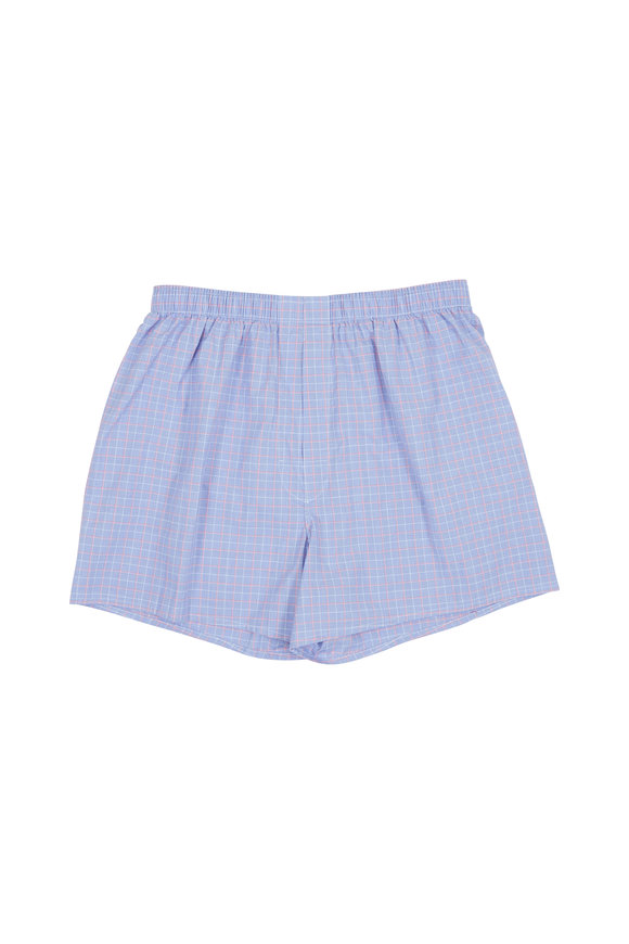 Charlie Dog Boxer Company The Cole Blue & Red Check Boxer Shorts
