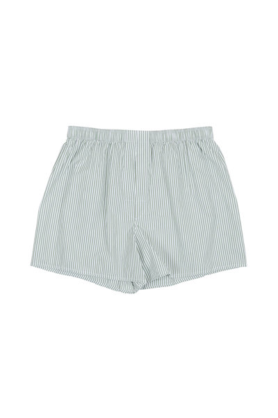 Charlie Dog Boxer Company - The Colin Green & White Striped Boxer Shorts
