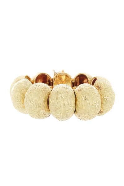 Fred Leighton - 18K Yellow Gold Flower Bracelet