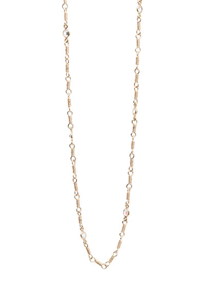 Temple St. Clair - 18K Yellow Gold White Sapphire Karina Necklace